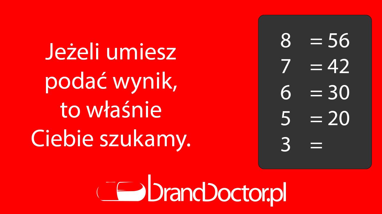 BrandDoctor | Jeżeli umiesz podać wynik... 8